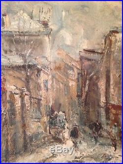 Tableau impressionniste Raymond BESSE (1899-1969) Vieux Montmartre Huile Signée