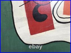 Tableau moderne signé, Huile sur toile, XXe