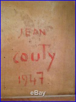 Tableau peinture JEAN COUTY huile sur toile authentique