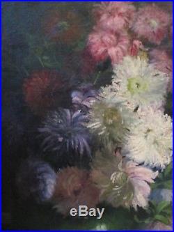 Tableau peinture Nature morte aux fleurs 1900 Peintre Lorrain Aline GILLARD