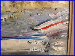 Tableau signé. Dominique KLEINER. Marine, Etretat 2008. HSt, Cadre 45x52 cm