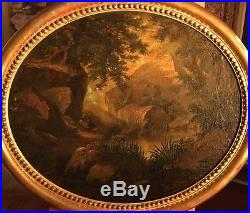 Tableaux (paire) de Pierre Jules BROCQ (1811-) huile sur toile XIXème siècle