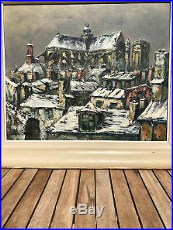 Tres Belle Huile Sur Toile Du Peintre Raymond Besse