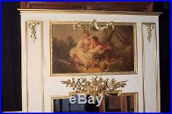 Trumeau style Louis XVI avec huile sur toile époque fin XIX ème siècle