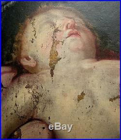 VIERGE A L'ENFANT ENDORMI XVII° Guido RENI à restaurer
