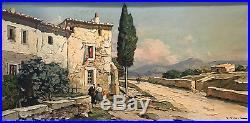 Vidal Gustave (1895 1966) Fermette au bord du chemin Huile sur toile v94