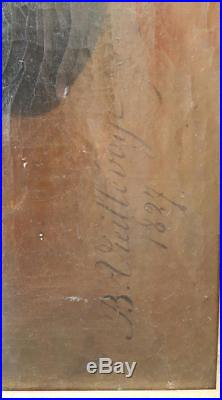 Vieillevoye Portrait Homme Neoclassique 1827 Huile Toile Tableau