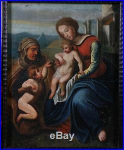 Vierge à lenfant, milieu du XIX ème, Ecole Française, 63 x 53 cm