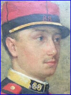 XIXeme Portrait Sous Officier d'infanterie Militaire Second Empire Napoleon III