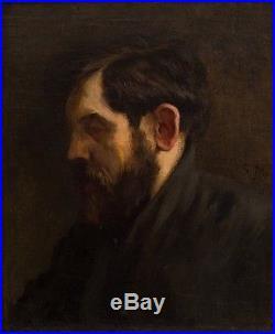 Édouard MANET (1832-1883) Huile sur toile Portrait 1874